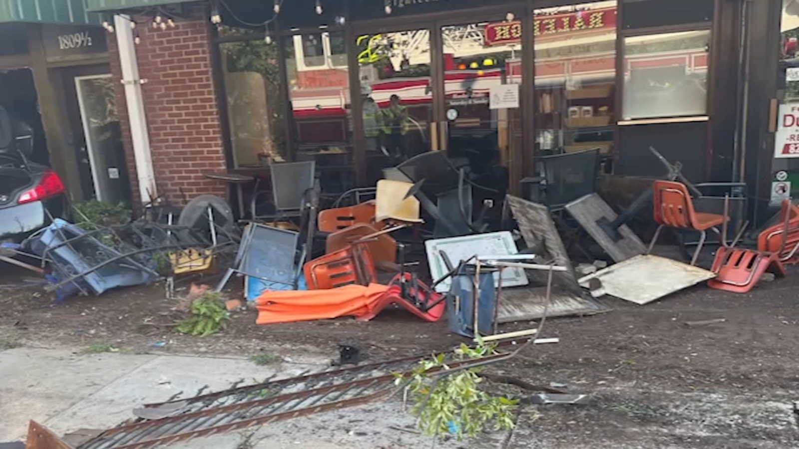 Driver crashes into businesses on Raleighs Glenwood Avenue